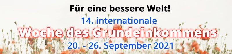 14. internationale Woche des Grundeinkommens